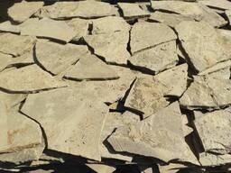 АКЦИЯ!!!Природный облицовочный камень песчаник серо-зеленый 1 см.