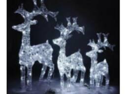 Акриловые светодиодные новогодние фигуры в ас-те