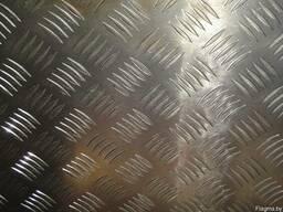 Алюминий листовой рифленый от 1,5 до 4мм( 1мм рифл.). Резка