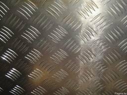 Алюминий листовой рифленый толщина 2,5мм и 1мм рифл. Резка