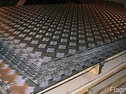 Алюминий рифленый 1,5 - 4мм. Резка в размер