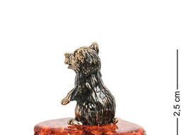 AM- 226 Фигурка «Медвежонок» латунь, янтарь
