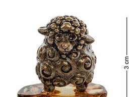 AM- 490 Фигурка Овца латунь, янтарь