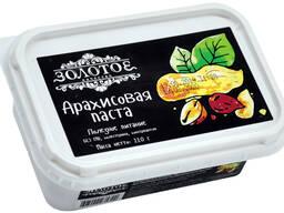 """Арахисовая паста """"Золотое качество"""" 220г/18шт, контейнер"""