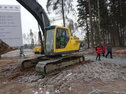 Аренда экскаватора Volvo EC210, земляные работы экскаватором