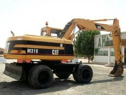 Аренда колесного экскаватора Caterpillar 318 1м3 ковш!