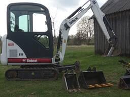Аренда мини-экскаватора Bobcat E16, выполнение всех видов земельных работ