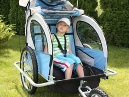 Аренда велоприцепа, велотележки для перевозки детей, грузов