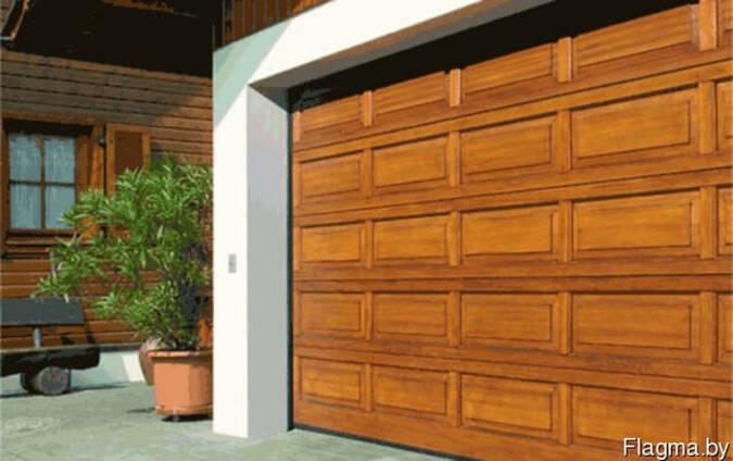 Автоматические секционные ворота в гараж
