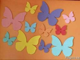 Бабочки из пенопласта в Минске