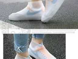 Бахилы (чехлы на обувь) от дождя и песка многоразовые силиконовые Waterproof Silicone. ..