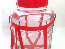 Банка стеклянная с гидрозатвором (бутыль) 5,0 л