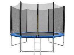 Батут FunFit 312 см - 10ft PRO (Усиленные опоры) с внешней сеткой и металлической. ..