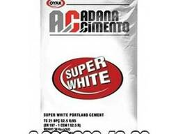 Белый цемент Д0 (в мешках по 50кг) суперпрочный Турция