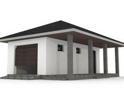 Бесплатный проект гаража с хозяйственным навесом