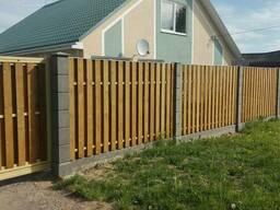 Бетонный быстровозводимый забор