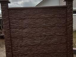 Бетонный забор под мрамор