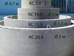 Бетонное кольцо в Заславле - 07м, 1м,1.5м,2м, крышки, днища, люки.