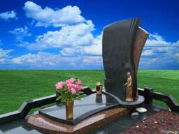 Благоустройство захоронений, памятники из гранита. - фото 4
