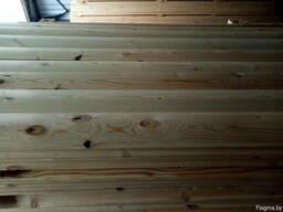 Блок-хаус для отделки фасада дома, дачи, сарая сосна