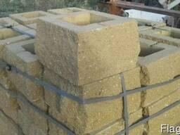 """Блок колотый. Бессер, Рваный камень """"столб"""" 270*270*190 мм"""