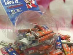 Блок жевательных конфет с вкладышами Love is, 60 шт. Ассорти вкусов