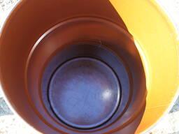 Бочка металл со съемной крышкой и хомутом, пищевая 200 литров