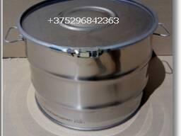 Бочка на 45 и 100 литров (крышка и обруч) из нержавеющей стали