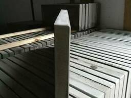 Бордюр тротуарный 50-4 см, 50-3.5 см. Крышки на забор. - фото 4