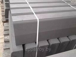Борт дорожный (камень бортовой дорожный, бордюр) серый БР100.30.15