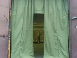 Брезентовая штора, тент и полог брезентовый, ворота.