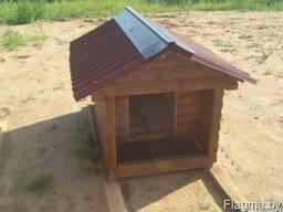 Будка для собаки из блок- хауса