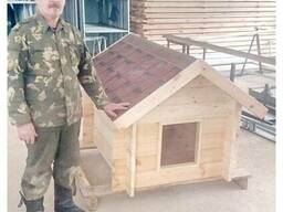 Будка из дерева для собаки