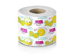"Бумага туалетная Новинка ""Супер"" однослойная на втулке (1 рулон) (Оптовая упаковка 24. .."
