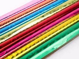 """Бумага упаковочная набор 8цветов 700*1000мм голография ассорти """"Darvish"""""""