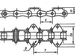 Цепь транспортерная с шагом 38,0 38,4 41,3 41,4