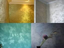 Декор для стен и потолка под ключ(декоративная штукатурка)