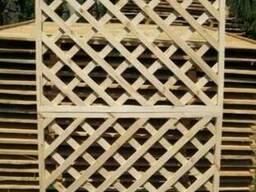 Декоративная изгородь Решетка Пергола Деревянная