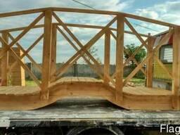 Декоративный мостик из дерева для дачи, садовый декор