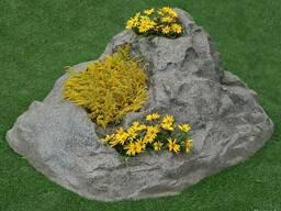 Декоративные камни - кашпо из натуральной каменной крошки