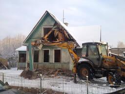 Демонтаж дома. Демонтаж деревянного дома. Снос дома
