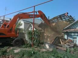 Демонтаж и снос зданий, сооружений, снос частных домов