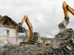 Демонтаж зданий любой сложности (снос домов, разборка зданий