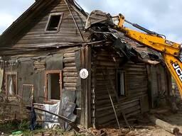 Демонтаж зданий, сараев, гаражей, ветхого жилья.