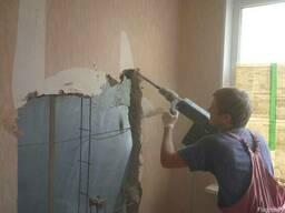 Демонтажные работы, разборка стен, полов