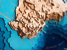 Деревянная карта Крыма под заказ