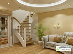 Деревянная лестница для дома ЛС-09