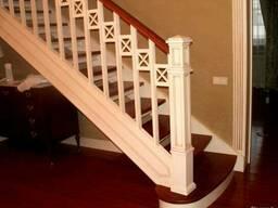 Деревянная лестница комбинированная на заказ