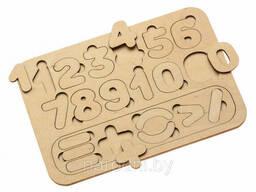 Деревянная рамка-вкладыш «Цифры И СЧЁТ»