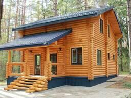 Деревянный дом, баня, беседка из оцилиндрованного бревна